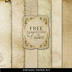 Vintage Paper Kit-FREEBIE--Far Far Hill