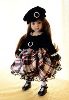 """SOLD """"Dolled Up for Christmas""""Dress,Outfit,Clothing for 13""""Effner Little Darling-Lumi"""