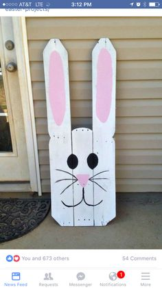 Cute outdoor Easter craft