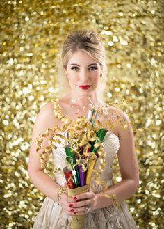 Gold glitter  Styling- Beth Chapman | The White Dress by the shore  Photo- Justin & Mary  Beauty- Jennie Fresa
