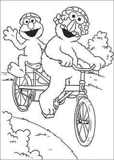 Sesame Street Coloring Pages 16