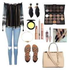 """""""Untitled #47"""" by amy-kate-hamann on Polyvore featuring Topshop, Billabong, Chloé, Michael Kors, Dolce Vita, MAC Cosmetics and Maybelline"""