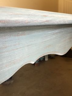 ASCP, duck egg blue, old white, distressed, dry brushed, DIY coffee table, beach, coastal, cottage.