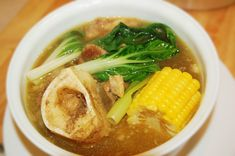 Bulalo is a beef dish from the Philippines. It is a light colored soup that is made by cooking beef shanks and marrow bones until the collagen and fat has melted into the clear broth. https://ExploreTraveler.com