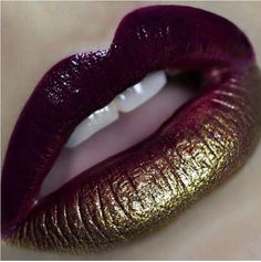 Gold and Plum! Done with occ black dahlia, vintage and triptych