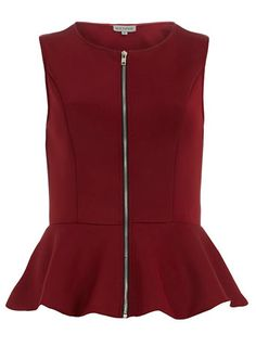 This cute burgundy @Dorothy_Perkins exposed zipper peplum top will pair nicely with leather skinnies $17, get it here: http://rstyle.me/~j2We