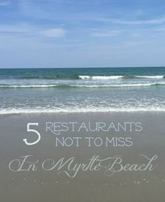 5 Restaurants Not to Miss in Myrtle Beach - Great list of places to eat the next time you're visiting in or around Myrtle Beach! - Tap the link to see the newly released collections for amazing beach bikinis & Jewelry! Beach Vacation Tips, Beach Trip, Vacation Trips, Vacation Spots, Beach Vacations, Vacation Food, Vacation Ideas, Beach Travel, Hawaii Beach