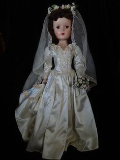 "21"" Bride, by Madame Alexander, all original, early 1950s."