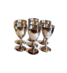 Silver Plated Toasting Goblets   ***** FREE SHIPPING!! ***** by SamsOldiesButGoodies on Etsy