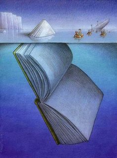 50 illustrations that cleverly describe the fascination of books. Illustration by Pawel Kuczynski. You are in the right place about global warming Satire Here we offer you the most beautiful pictures Satire, Book Art, Satirical Illustrations, Meaningful Pictures, Deep Art, Reading Art, Reading Room, What Book, World Of Books