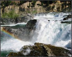 "As seen in the movie ""The River Wild"", Kootenai Falls, Montana, Wild River Waterfall 