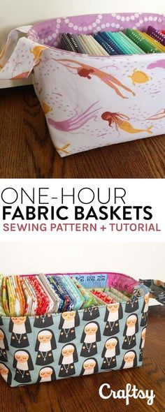 Consolidate clutter around your house with these adorable fabric baskets. Get the pattern and sewing tutorial at Craftsy.