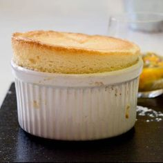 A soft, light and airy dessert - Passion fruit and Banana Souffle. Simply delicious. You'll be amazed at how easy it is to make this banana souffle recipe.