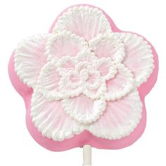 Brush Embroidery - Add textured flowers with the soft look of lace using this easy icing technique. Works best using a square tip brush.