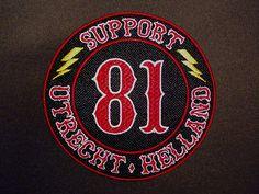 Hells Angels Utrecht Holland support patch black