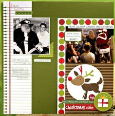 Dear Santa layout by Erin Terrell Clarkson (bella blvd blog)