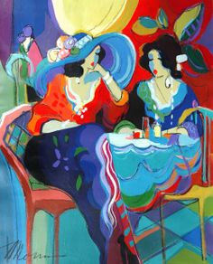 Women in Painting by Israeli Artist Isaac Maimon. The colors are so rich.