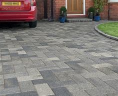 Driveline Elise is a fantastic new way to achieve a stunning finish thats ideal for almost any home type. Colour: Pebble Grey Size: 300 x 150 x 50 204 blocks per pack Weight: per pack Pack covers area Prices include vat Driveway Design, Driveway Ideas, Builders Merchants, Paving Ideas, Block Paving, Pebble Grey, Front Gates, Brick Design, Paving Stones