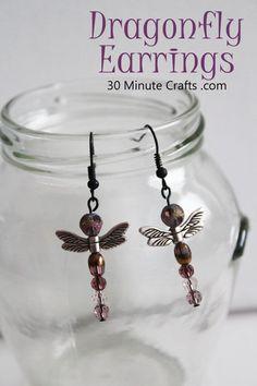 may3 Dragonfly-Earring-Tutorial #handmadejewelry #HomemadeJewelry