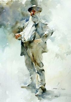 Bhira painting. Watercolor