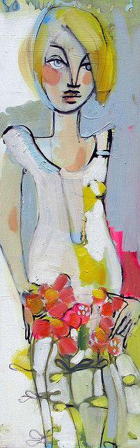 girl holding flowers by BEKAH ASH, via Flickr