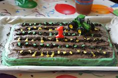 Crunchy Farm Baby: Charlie's First Birthday Pictures - Vegan Chocolate Tractor Cake