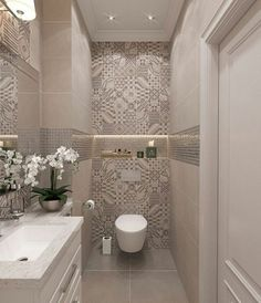 55 Fresh Small Master Bathroom Remodel Ideas And Design - - Kochen - Badezimmer ideen Small Toilet Room, Guest Toilet, Downstairs Toilet, Toilet Wall, Bad Inspiration, Bathroom Inspiration, Bathroom Ideas, Bathroom Remodeling, Remodeling Ideas