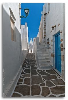 beautiful alleys,Cyclades,Greece