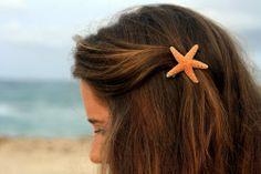 Large Sugar Starfish Barrette :