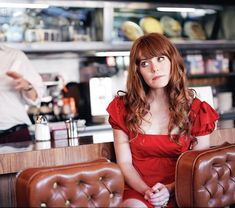 the red dress jenny lewis wore on the cover of rabbit fur coat is amazing. those ruffled/puffed sleeves are LIKE A DREAM. Jenny Lewis, Rabbit Fur Coat, Love Affair, Pretty People, Perfect People, Red Hair, Hair Cut, Redheads, Vintage Inspired
