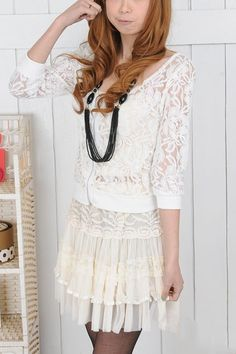 Short Sexy Lace Skirt with Ribbon Embellished Soft Yarn $23 .    http://www.oasap.com/skirts/3791-short-sexy-lace-skirt-with-ribbon-embellished-soft-yarn.html/?fuid=20016