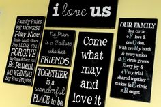 DIY Quote Gallery Wall Art
