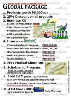 Aim Global Package!!..who wants to join us. .With many benefits. .