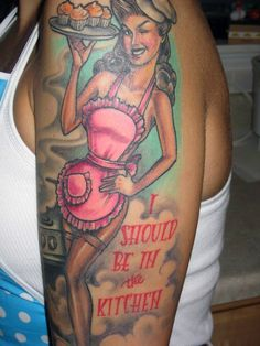 sweet girly pinup baking cupcake tattoo sleeve 8531 Santa Monica Blvd West Hollywood, CA 90069 - Call or stop by anytime. UPDATE: Now ANYONE can call our Drug and Drama Helpline Free at 310-855-9168.