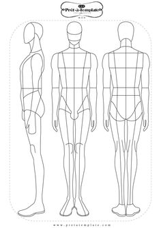 Fashion Figure Templates Design Template Illustration Men Drawings