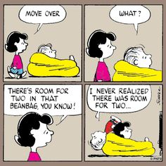 Linus and Lucy- watching TV.