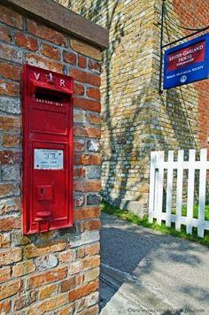 Victorian Post box, still in use ~ Trinity, Newfoundland: Photo by Seastrandstudio. Newfoundland Canada, Newfoundland And Labrador, Atlantic Canada, O Canada, Post Box, Prince Edward Island, New Brunswick, Good Ole, Nova Scotia