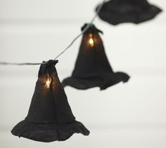 Shop witch hat string lights from Pottery Barn. Our furniture, home decor and accessories collections feature witch hat string lights in quality materials and classic styles. Holidays Halloween, Spooky Halloween, Halloween Crafts, Happy Halloween, Halloween Decorations, Halloween Party, Halloween Lighting, Halloween Tricks, Halloween Goodies