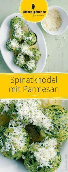 Spinatknödel mit Parmesan Rezepte A delicious vegetarian dish for the whole family: loose dumplings Healthy Food Recipes, Tasty Vegetarian Recipes, Vegetarian Dish, Meal Recipes, Crock Pot Recipes, Parmesan Recipes, Parmesan Pizza, Vegan Parmesan, Ground Beef Recipes