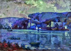 """Claude Monet referred to him: """"As a surprising touch in the service of a surprising eye"""". Among Robert Antoine Pinchons' important works are a series of paintings of the River Seine, mostly around Rouen and landscapes depicting places in or near Upper Normandy."""