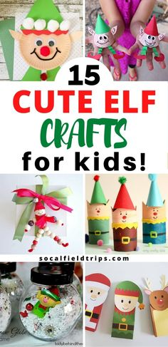 Are you looking for a fun Christmas craft this season? Then check out this list of 13 Easy Elf Crafts For Kids that are sure to bring a smile to Santa's face. All you need are a few crafts supplies and an hour of time and you will have created an adorable little elf for yourself or a friend. #elf #santaclaus #christmascraft #christmacrafts #holidaycrafts #kidsactivities #kidscrafts #stemactivities Winter Kids, Christmas Crafts For Kids, Christmas Fun, Holiday Crafts, Christmas Sewing Projects, Handmade Christmas Gifts, Field Trips, Activities For Kids, Posts