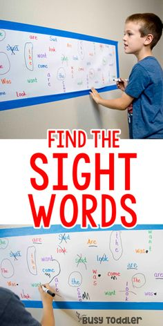 Sight Word Find Literacy Activity from Having a child working on reading? Try th… Sight Word Find Literacy Activity from Having a child working on reading? Try this sight word find literacy activity for a way to memorize sight words using the whole body. Kindergarten Reading Activities, Homeschool Kindergarten, Preschool Learning, Fun Learning, Preschool Activities, Learn To Read Kindergarten, Homeschooling, Kindergarten Projects, Literacy Games