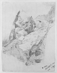 Eiger from Mürren  John Singer Sargent  (American, Florence 1856–1925 London)  1870. Graphite on off-white wove paper.