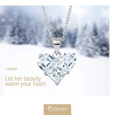 Multi-stone pendants are a staple in the poshest of jewelry boxes! One princess cut and two shoulder cut DiAmi are cuddled together forming a special and timeless symbol of love. Pin it if this beautiful pendant warms your heart!