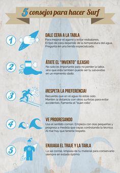 5 consejos para hacer surf #infografia #infographic