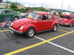1973 VW Super Beetle - I learned to drive a stick-shift in a red super beetle.  I think it was a 1974.