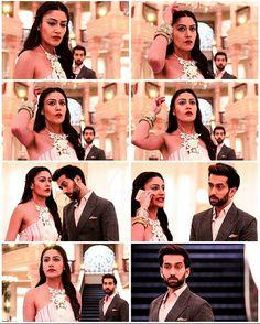 Anika ban gayi SHivaay Singh Oberoi !!! Cute Love Couple, Beautiful Couple, Indian Reception Outfit, Nakul Mehta, Dil Bole Oberoi, Indian Drama, Surbhi Chandna, Popular Shows, Saree Dress