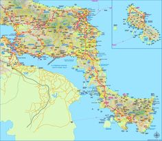 Chios sightseeing map Maps Pinterest Chios Greece islands and