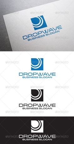 Dropwave Logo ...  aqua, blue, brand, clean, company, design, drop, fresh, h2o, health, internet, liquid, logo, marine, media, minimal, modern, nature, ocean, pure, river, sea, service, simple, tear, water, wave, waves, web, website