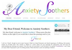 Anxiety Soothers is a helpful, easy-to-use guide that contains twenty Visualizations, Activities and Body Cues for a total of sixty healthy resources that are available to use, right now. My Dear Friend, Anxiety, Activities, Website, Reading, Check, People, Reading Books, Stress